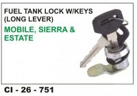Fuel Tank Lock W/Key Mobile Siera CI-751