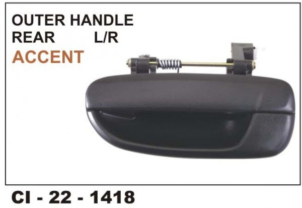 Outer Door Handle Accent Rear LHS CI-1418L