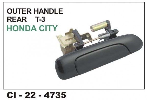 Outer Door Handle Honda City T-3 Rear RHS CI-4735R