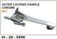Locking Handle Tata 407,609, Chrome Plated CI-5256