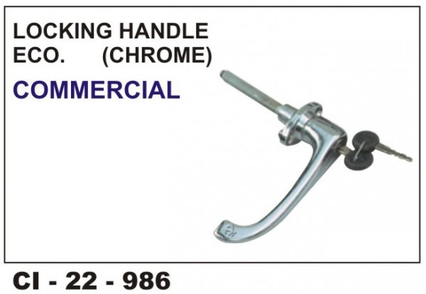 Locking Handle Commercial Chrome (Economy) CI-986