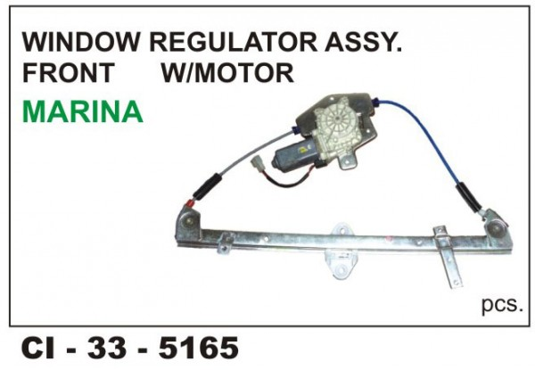 Power Window Regulator W/Motor Indigo Marina Front LHS CI-5165L