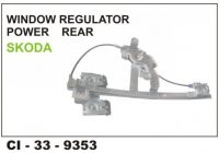 Power Window Regulator Skoda Rear LHS CI-9353L