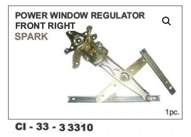 Power Window Regulator Spark Front RHS CI-33310R With Motor