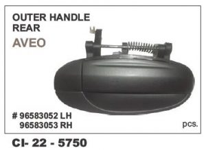 Outer Door Handle Chevrolet Aveo, Uva Rear-Right Hand Side (RHS) CI-5750